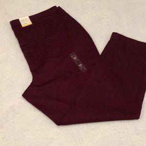 Women's jeans size 22w, slim leg, high rise